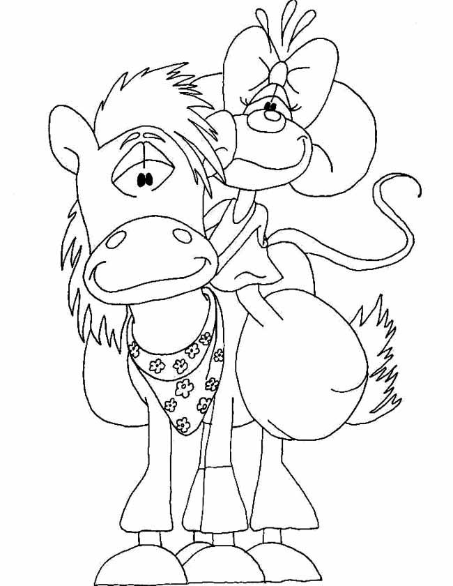 Gratis kleurplaat Didlina paard