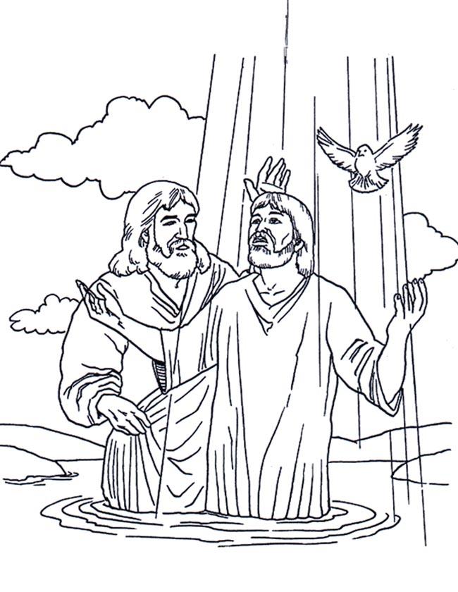 kleuren nu jezus wordt gedoopt kleurplaten