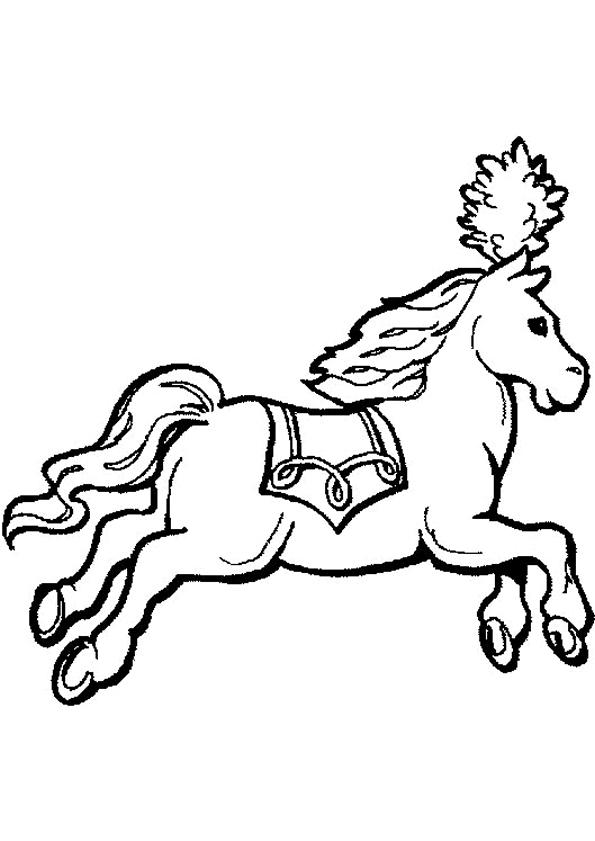 Gratis kleurplaat paard
