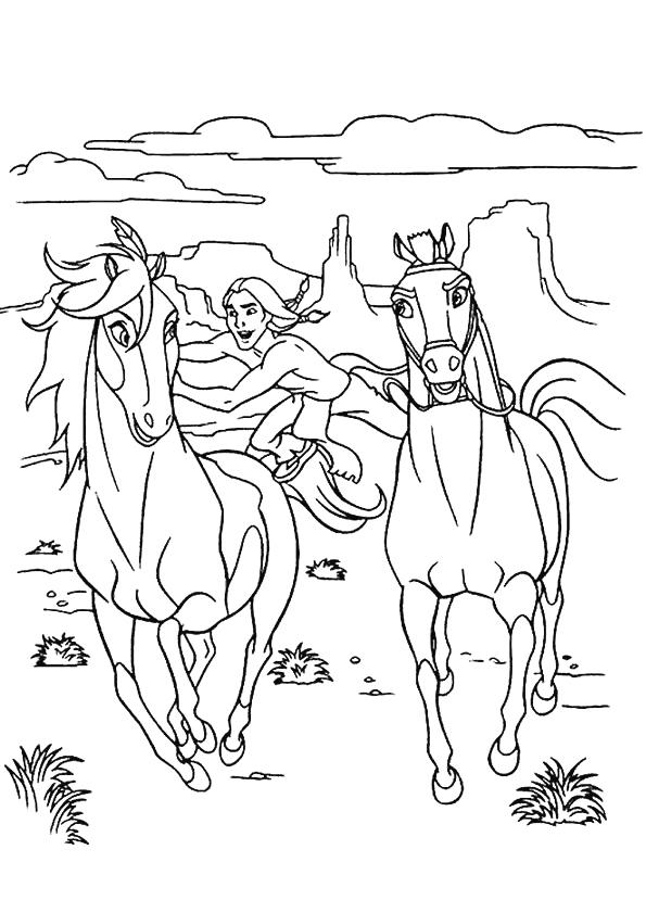 kleuren nu paard spirit kleurplaten