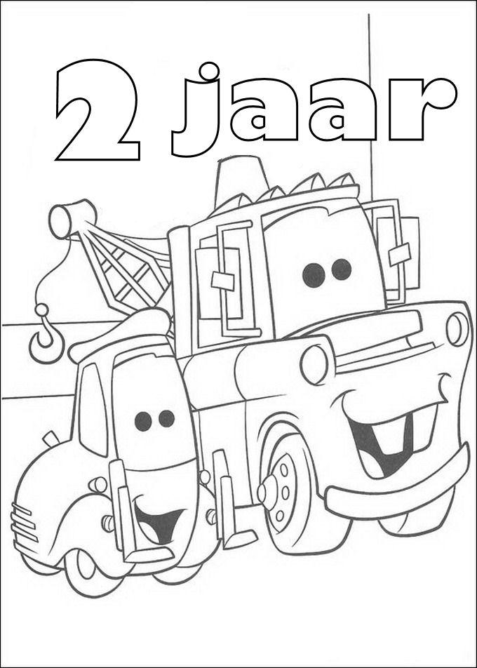 Gratis kleurplaat cars 2 jaar