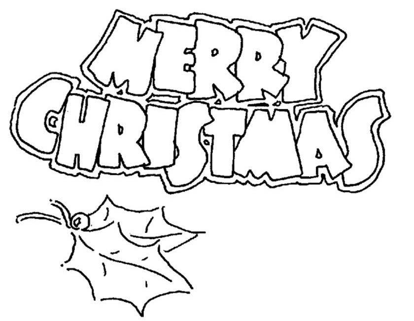 Gratis kleurplaat Merry christmas