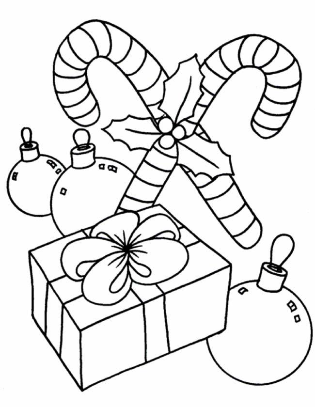 Gratis kleurplaat kerstfeest zuurstokken