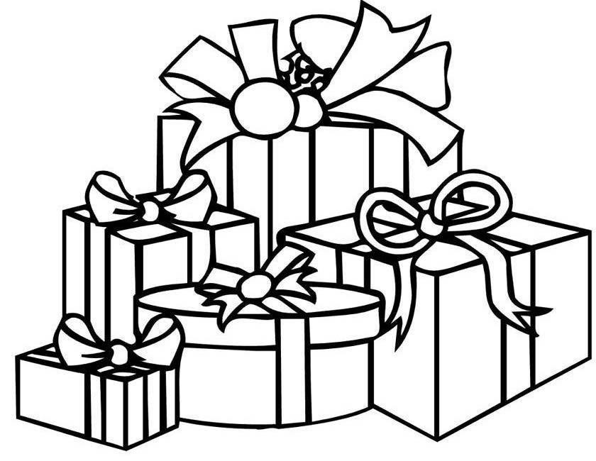 Gratis kleurplaat cadeautjes voor kerst
