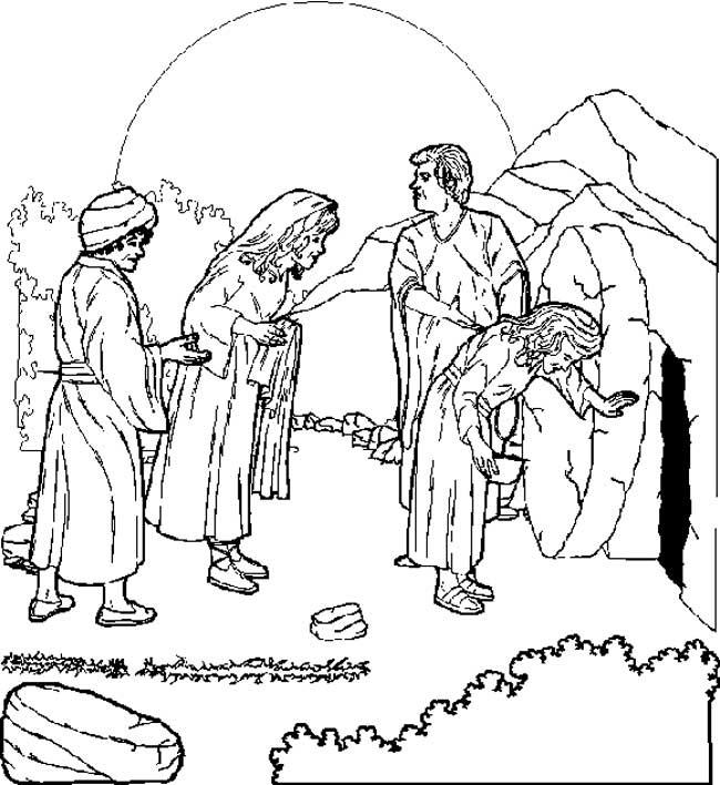 Gratis kleurplaat De opstanding van Jezus