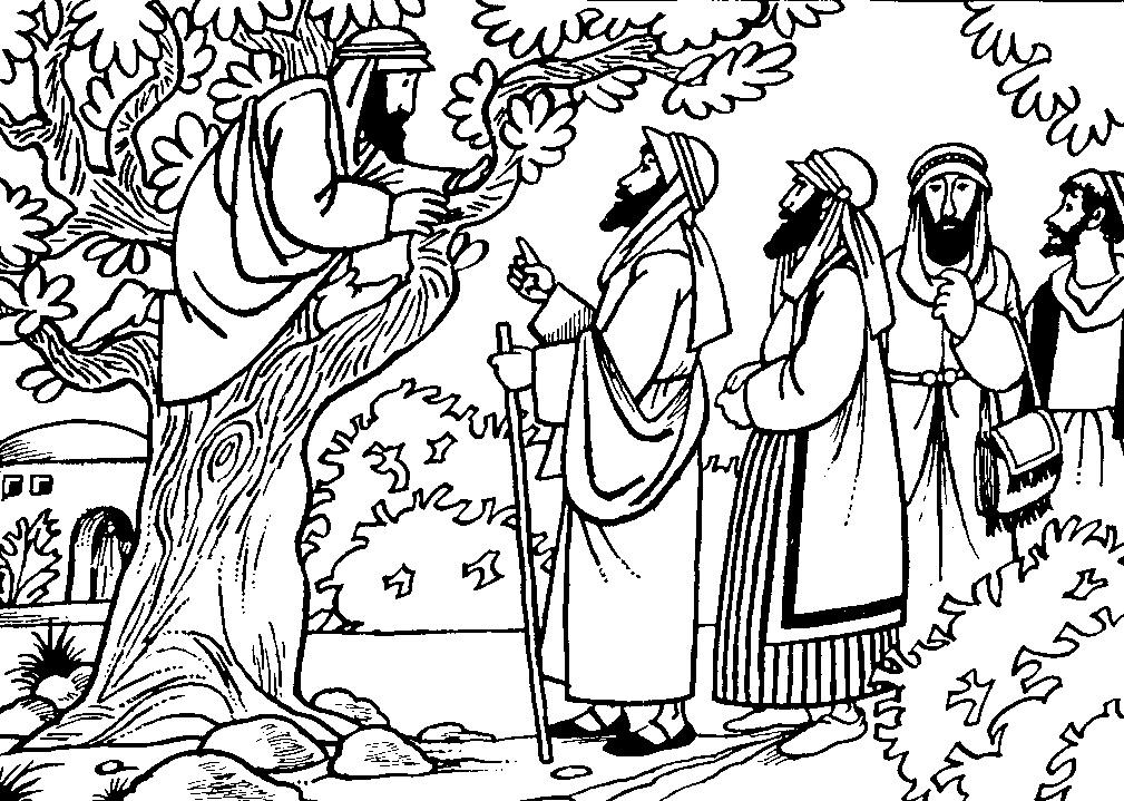 Bijbelse Kleurplaat Kerst Kleuren Nu Zacheus Kleurplaten