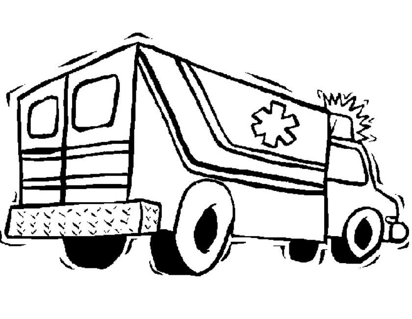 Kleurplaat Van Een Ambulance Idee 235 N Over Kleurpagina S