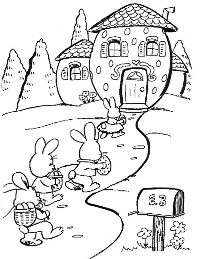 Gratis kleurplaat Optocht voor Pasen