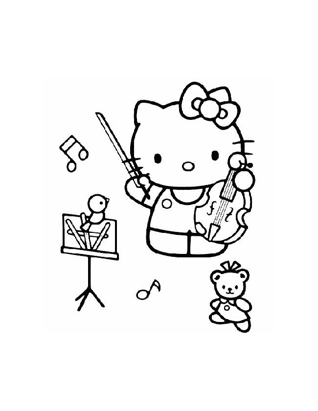 Gratis kleurplaat in het orkest