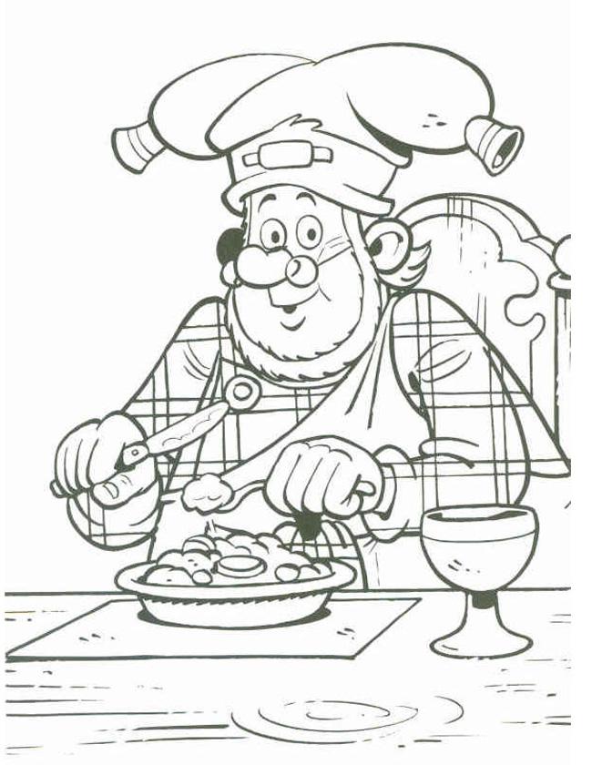 Gratis kleurplaat een lekker bord met boerenkool