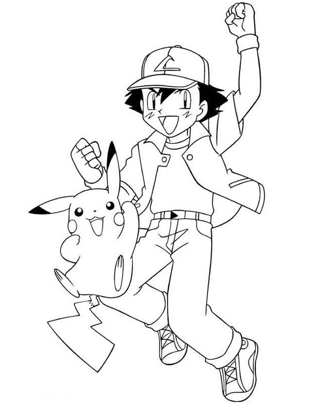 Gratis kleurplaat pikachu