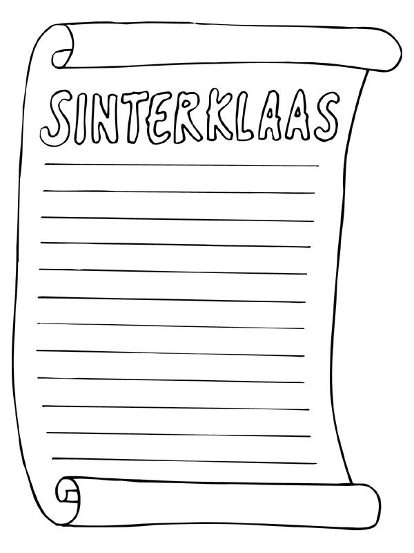 Kleurplaat Van Sinterklaas En Zwarte Piet En De Zak Printen Kleuren Nu Verlanglijstje Met Ruimte Voor Veel Tekst