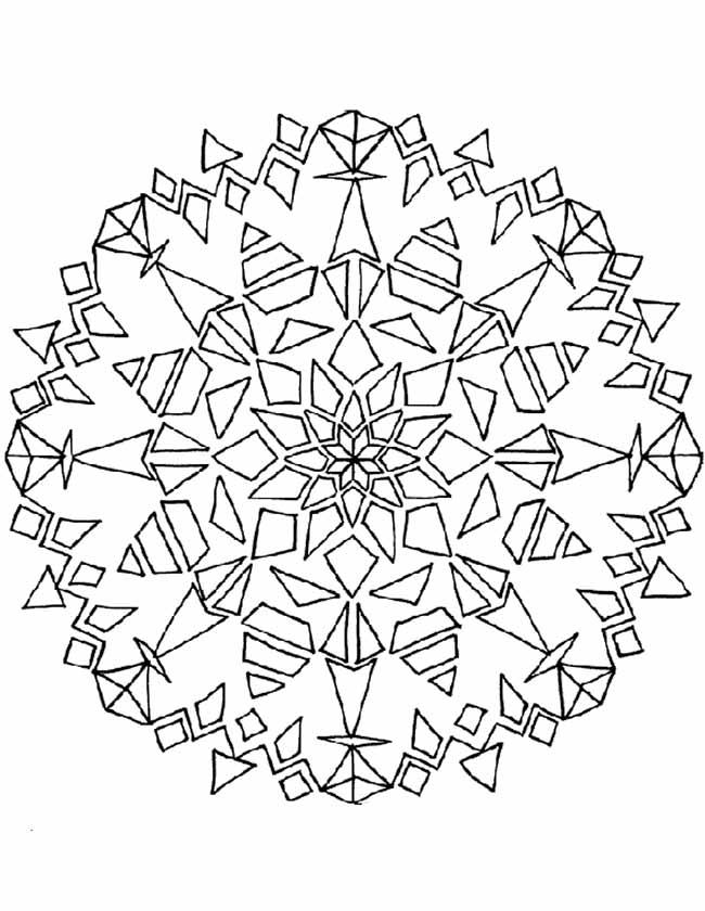 Gratis kleurplaat mandala driehoekjes