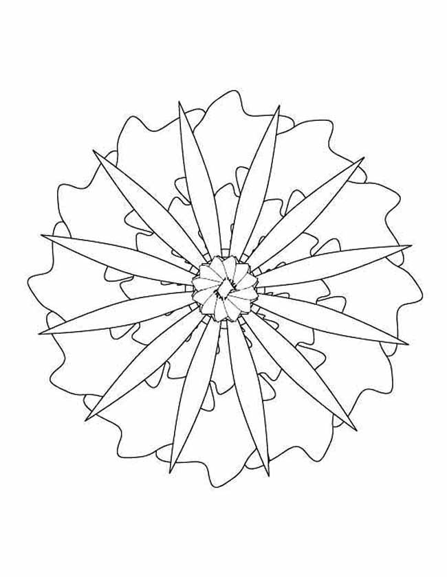 Gratis kleurplaat mandala propeller