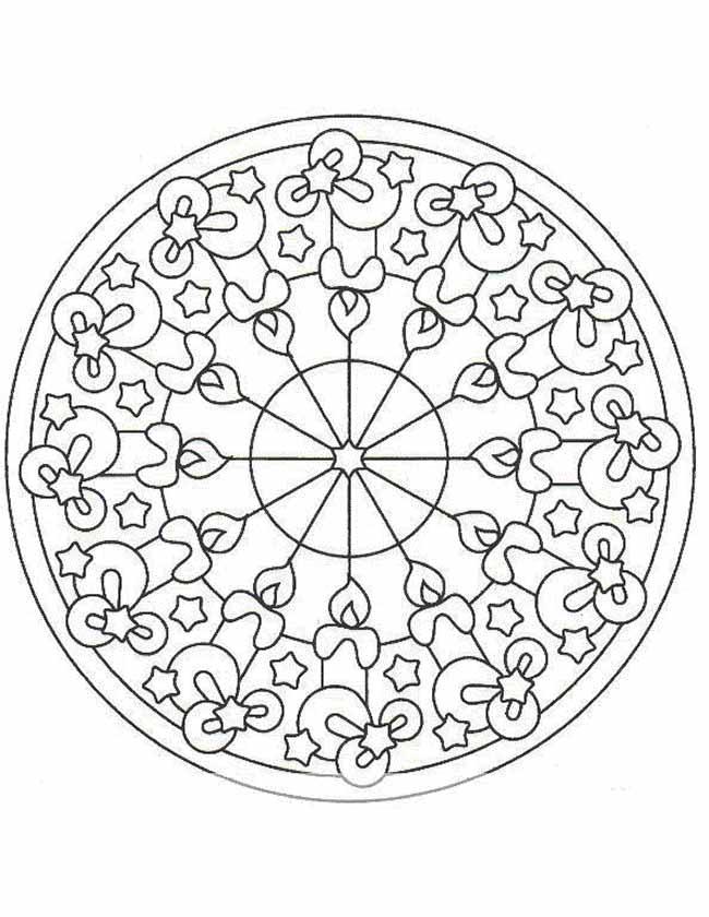 Gratis kleurplaat mandala figuren