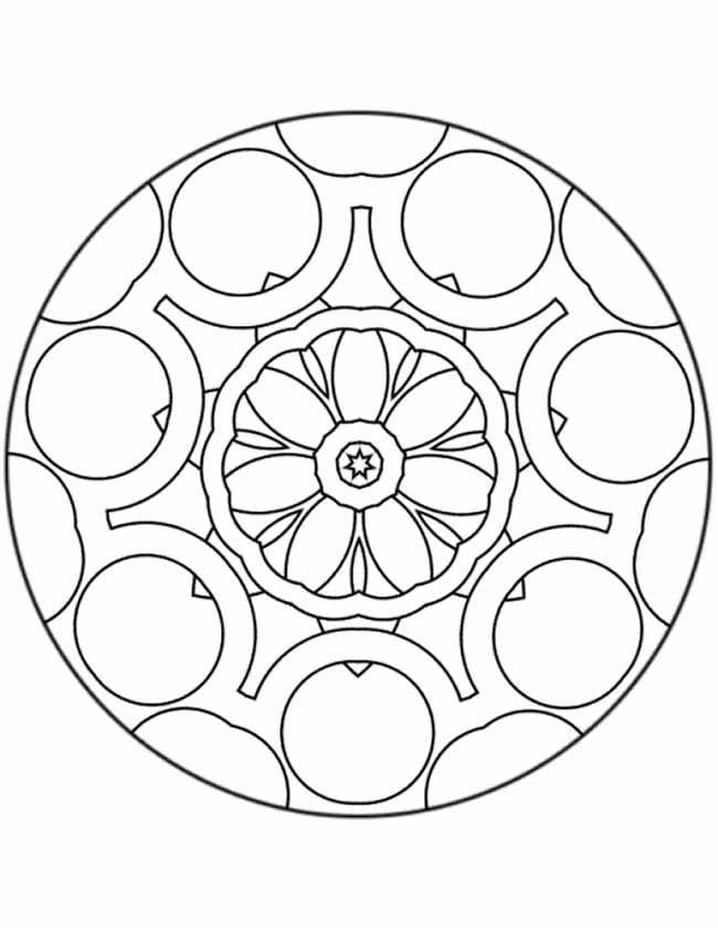 Gratis kleurplaat tandwiel mandala