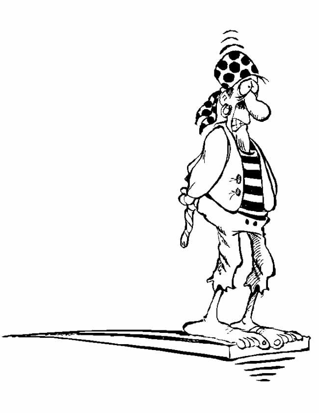 Gratis kleurplaat piraat springplank