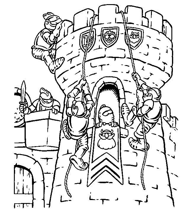 Gratis kleurplaat kasteel 1