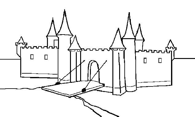 Gratis kleurplaat kasteel 10