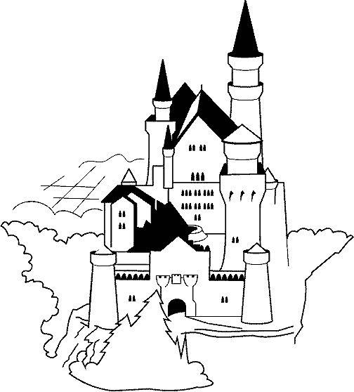 Gratis kleurplaat kasteel 12