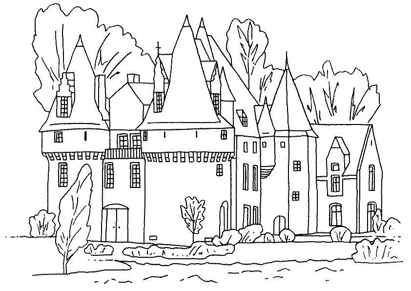 Gratis kleurplaat kasteel 14
