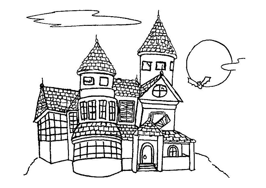 Gratis kleurplaat kasteel 2