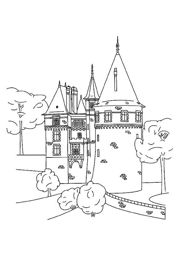 Gratis kleurplaat kasteel 3