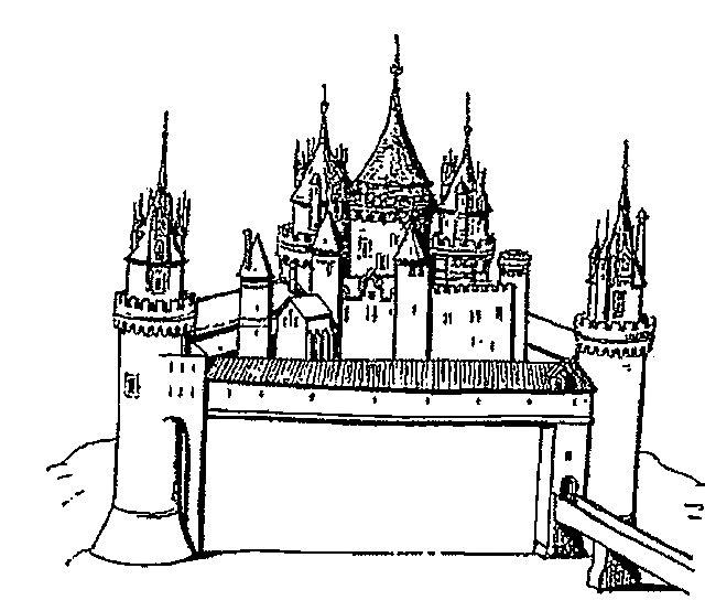 Gratis kleurplaat kasteel 4