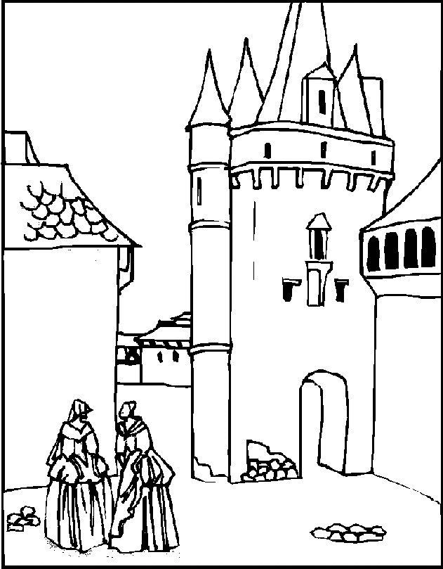 Gratis kleurplaat kasteel 5