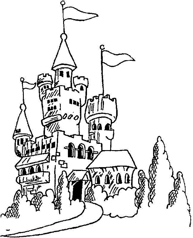 Gratis kleurplaat kasteel 6