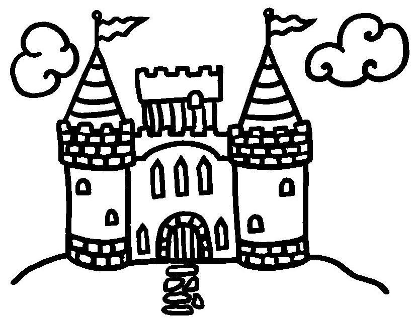 Gratis kleurplaat kasteel 7