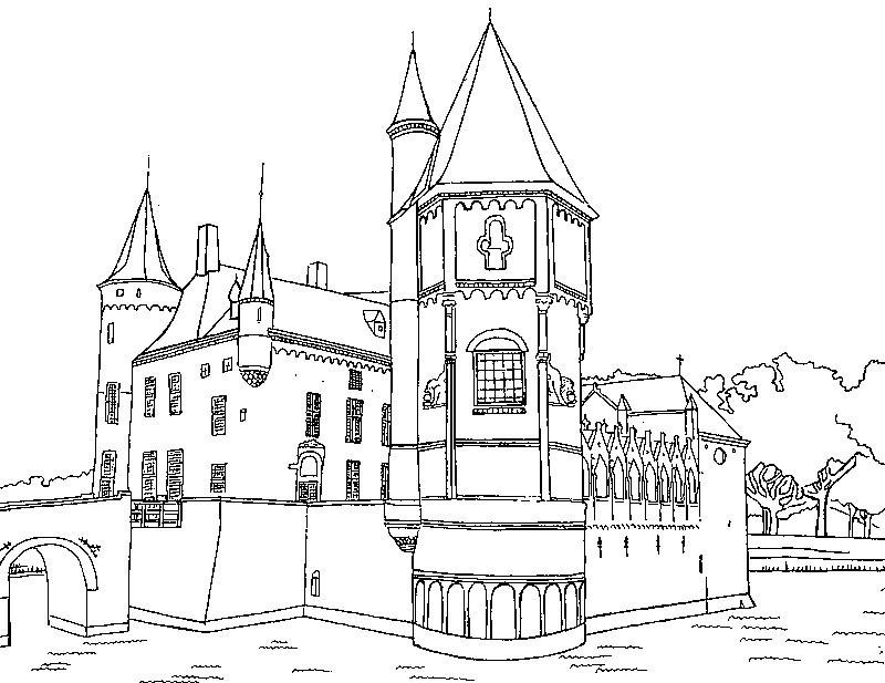Gratis kleurplaat kasteel 9