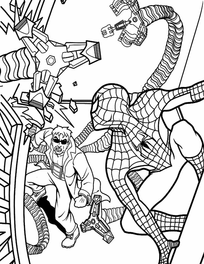 Gratis kleurplaat spiderman de winnaar