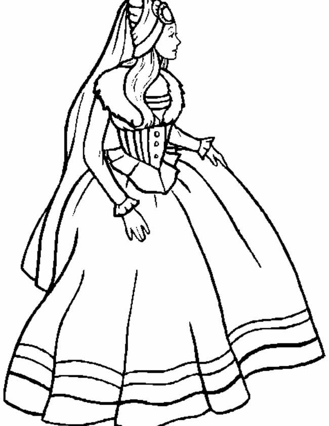 Gratis kleurplaat sprookjes prinses