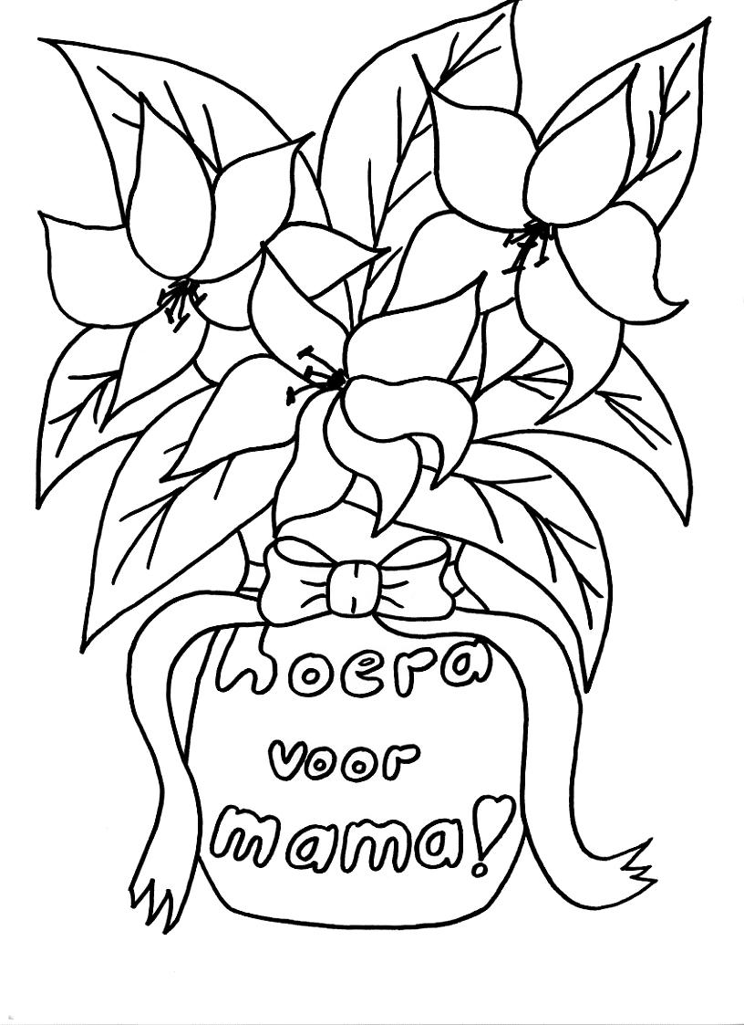 Kleurplaten Verjaardag Van Mama Idee 235 N Over Kleurpagina