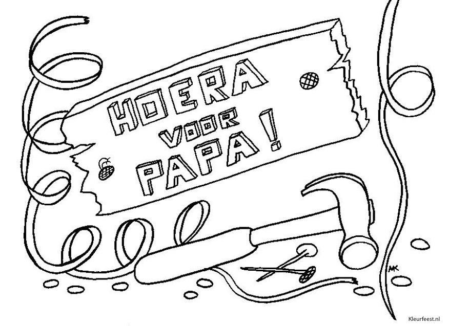 kleurplaten gelukkige verjaardag papa
