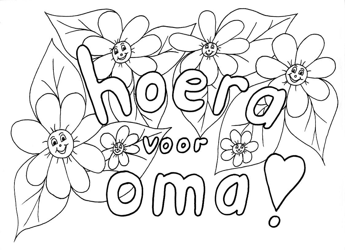 Kleurplaat Bloemen Oma Idee 235 N Over Kleurpagina S Voor