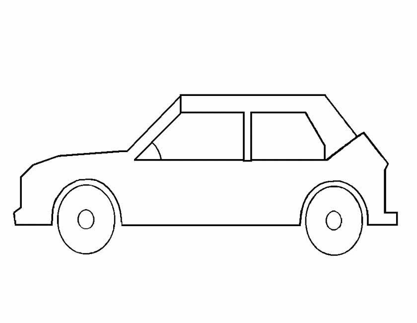 auto kleurplaat zijkant auto tekening kleurplaat ideen
