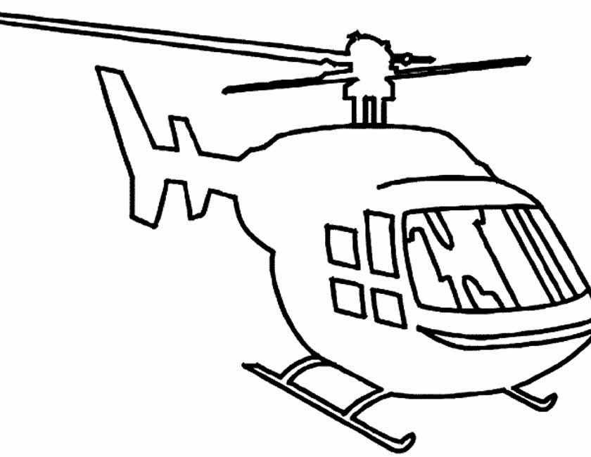 Gratis kleurplaat Kleurplaat van helikopter