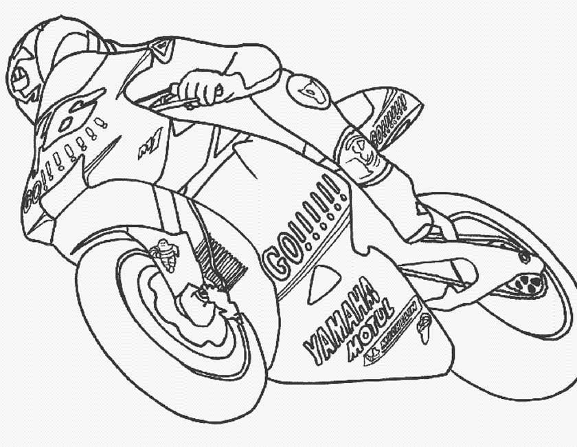 Gratis kleurplaat Racemotor