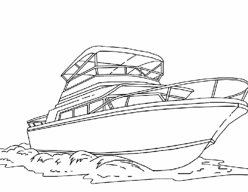 Kleuren Nu Speedboot Op Zee Kleurplaten