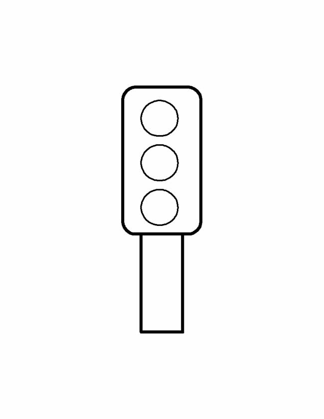 Gratis kleurplaat een stoplicht