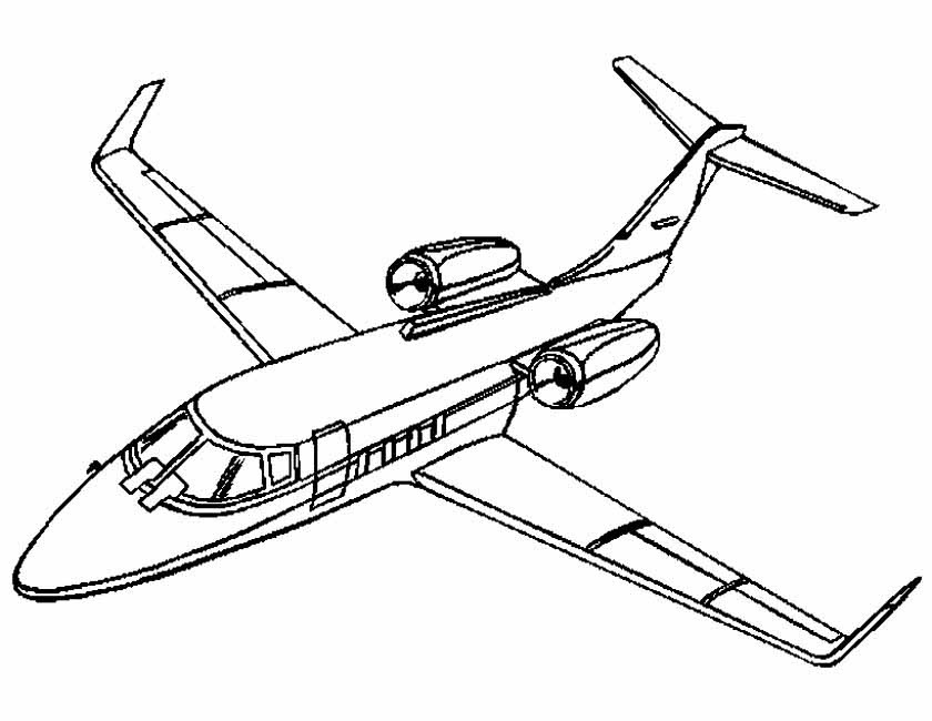 Gratis kleurplaat privejet vliegtuig
