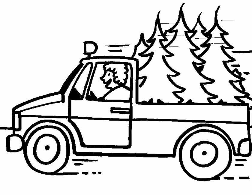 Gratis kleurplaat rijdende pickup