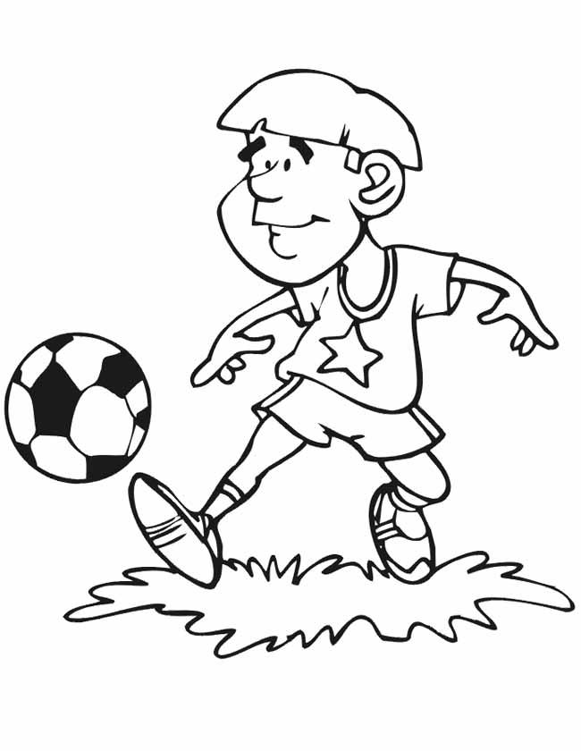Gratis kleurplaat voetballen training