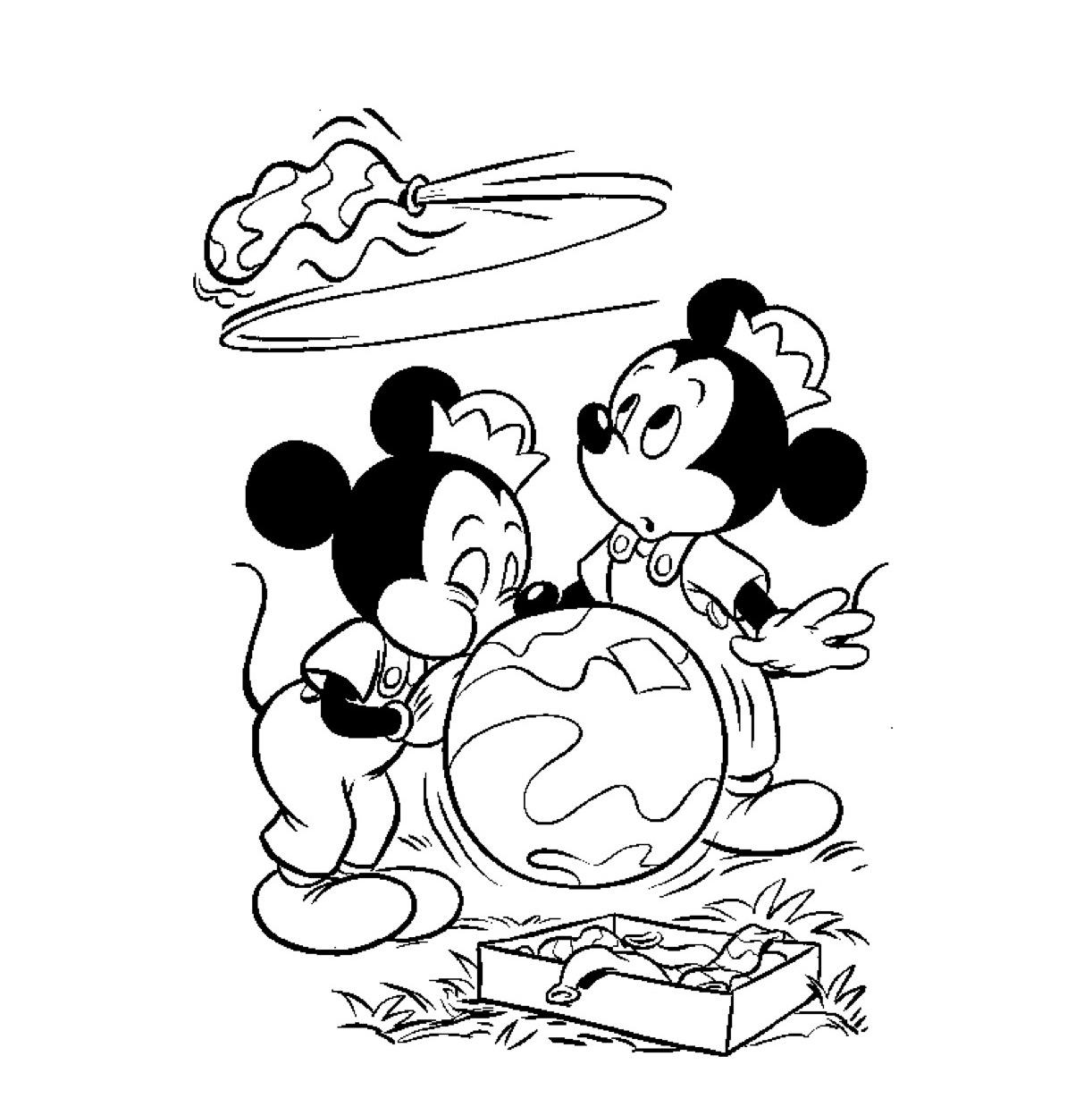 Minnie Mouse Kerst Kleurplaat Kleuren Nu Puk En Max Blazen Ballonnen Op Kleurplaten