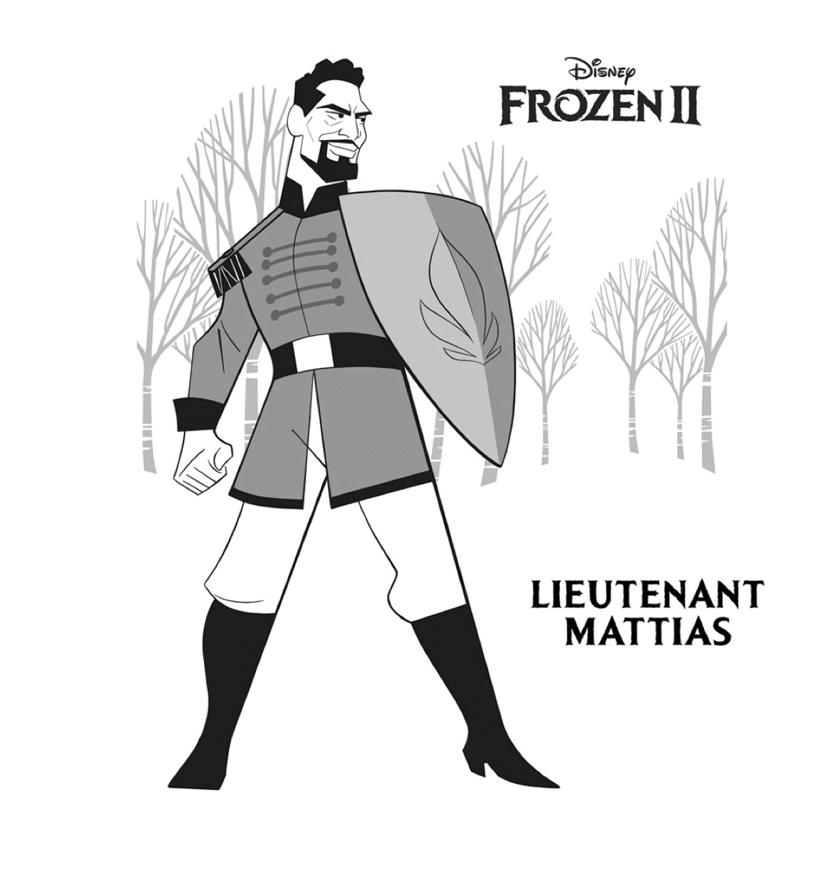 Gratis kleurplaat Luitenant Mattias