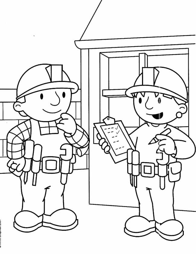 Kleuren Nu Bob En Wendy Met Een Checklist Kleurplaten