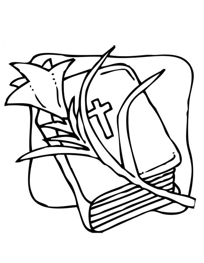 Gratis kleurplaat De bijbel