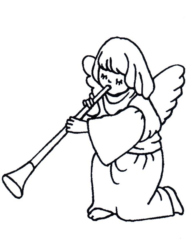 Gratis kleurplaat Een engeltje